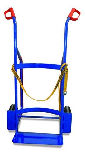 Fasskarre für Kunststofffässer RAL5010 Enzianblau Fasswagen Fasstransporter