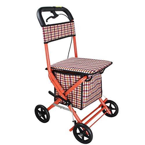 Wandelaars, Rollators/wandelframes Walker rollator/walker rollator voor ouderen winkelen/ rollator met stoel winkelen opvouwbare rollator walker lichtgewicht opvouwbare medische rollator met zitting en b