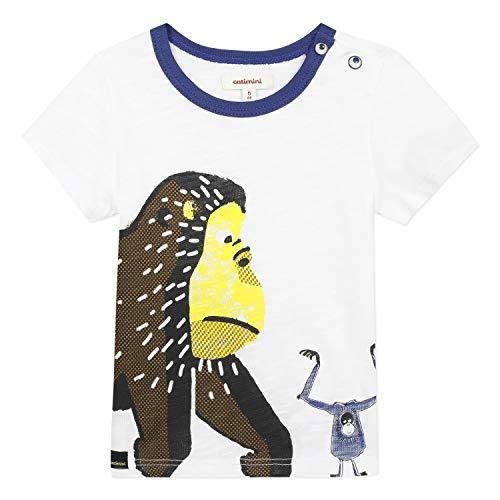 Catimini Cq10072 tee Shirt Camiseta, Blanco (Craie 13), 6-9 Meses (Talla del...
