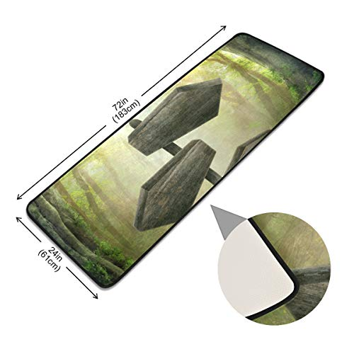 XiangHeFu Mysterieuze droom bos teken doorgang deurmat thuis Anti Skid gebied tapijt pads vloer niet slip tapijt