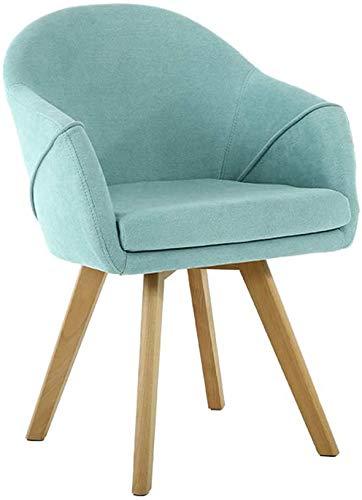 LED-Licht Holzküchenstühle, Esszimmerstühle, Moderne Freizeitmöbel, Bequeme Rückenlehne, geschwungene Armlehnen,Blue