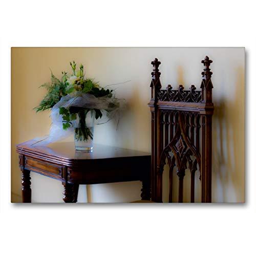 Premium Textil-Leinwand 90 x 60 cm Quer-Format Schloss Evenburg - Hochzeitszimmer | Wandbild, HD-Bild auf Keilrahmen, Fertigbild auf hochwertigem Vlies, Leinwanddruck von Erwin Renken