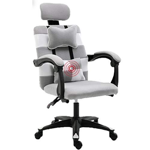 Chaise de réception, chaise de repos Support de fauteuil Chaise de taille Chaise d'hôtel Chaise de banque Chaise de club Chaise de chambre Chaise de dortoir (Couleur : Gray)