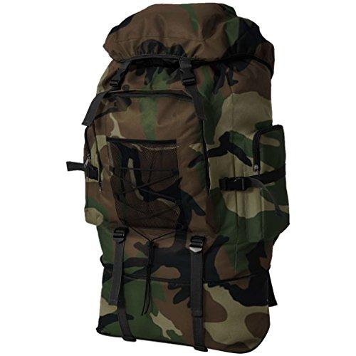 vidaXL Trekkingrucksack Armee Kampfrucksack Wanderrucksack XXL 100L Camouflage