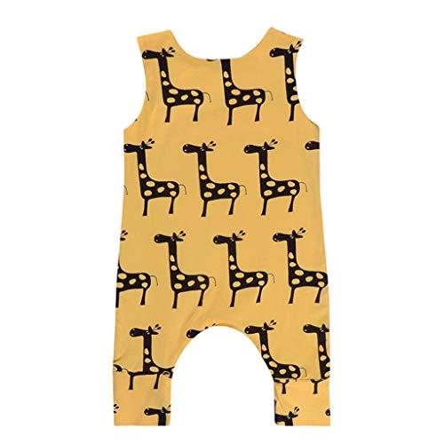 Elecenty Babyartikel Kinderkleidung,Neugeborenes Hunde Drucken Strampler Spielanzug Babyausstattung Mädchen Ärmellos Romper Junge Babybodys Lange Hosen Kindermode Jumpsuit