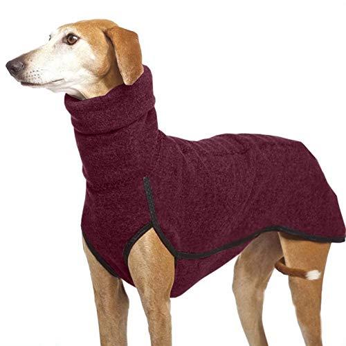 DHGTEP Haustier Kleidung für Hohe Kragen Mittlere Große Hunde Winter Warm Große Hundemantel Pharao Hound Deutsche Dogge Pullover Hundezubehör (Color : Wine Red, Size : 3XL)