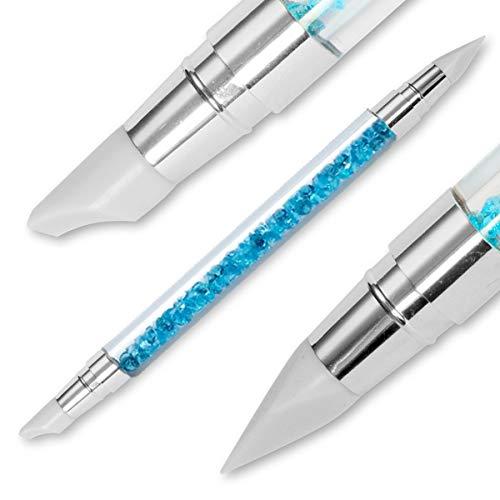 Silikon Gummi Pinsel Nailart Tool - mit 2 verschiedene Silikon Gummi Spitzen
