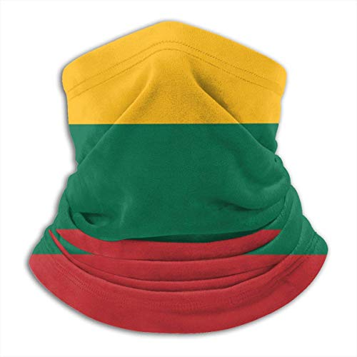 WlQshop Flag of Lithuania Neck Warmer Gaiter Fleece Ski Face Cover Cover for Winter