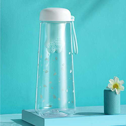 QFWN Kunststoff-Flasche rosa Teesieb Flaschen Wasserflasche nett for Mädchen (Capacity : 550ml, Color : Sky Blue)