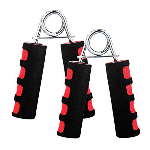 Lechay Hand Grip Strengthener Hand Soft Foam Manual Exerciser Rapid Increase of Wrist Forearm and Finger Strength Exercise Equipment 2 Pcs