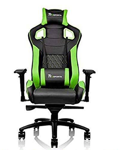 Thermaltake Tt eSPORTS GT Fit F100 Racing Bucket Seat Style Ergonomic Gaming Chair Black/Green