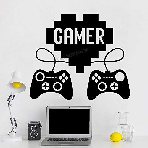 Etiqueta engomada de la pared del vinilo de la palanca de mando del videojuego del juego