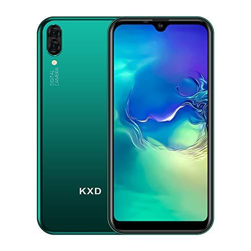 Teléfono Móvil Libres KXD A1 Android 8.1 Quad Core Smartphone Libre Baratos 3G Dual SIM, Pantalla 5,71' IPS Water-Drop Screen Movil, Cámara trasera y frontal 5MP 16GB ROM (128GB Ampliable SD), Verde