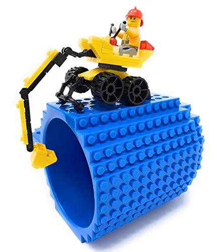 LyKenn Co. Taza de ladrillo, incluye excavadora de construcción, instrucciones de...