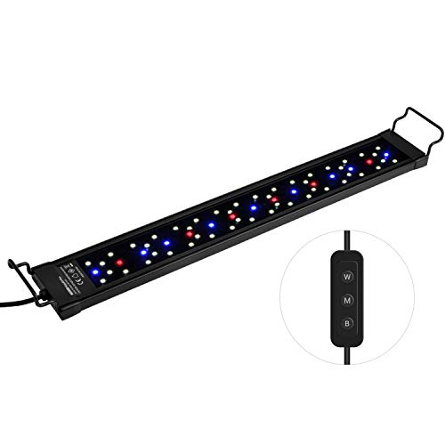 NICREW SkyLED Plus Aquarium Light for Planted Tanks, Full Spectrum Freshwater Fish Tank Light, Light Brightness and Spectrum Adjustable with External Controller, 18-24 Inches, 22 Watts