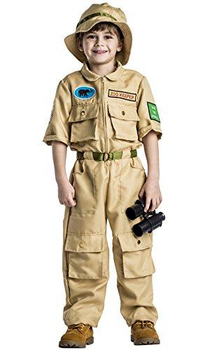 Dress Up America Disfraz de Guardin de Zoolgico para Nios