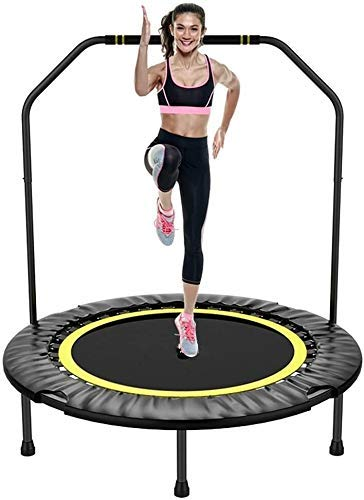 LuoMei Adults and Kids Bounce Trampoline Fitness Exercise Trampoline with Handle Bar 40 inch Foldable Rebounder Cardio Workout Training for Kids or Adults Max. Load 300Lbs Zero Stretch Jump Matfruit