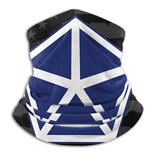 XXWKer Microfibre Chapeaux Tube Masque Visage Tour de Cou Cagoule, Army V Corps Fleece Neck Warmer Neck Warmer Winter Neck Warmer