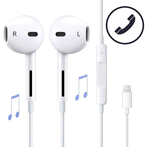 Earphones, Microphone Apple Earbuds Stereo Apple Headphones Noise Isolating Headset Made Compatible with iPhone Xs/XR/XS Max/iPhone 7/ iPhone 8 / iPhone X Apple Earphones,(1 Pack) Support All System
