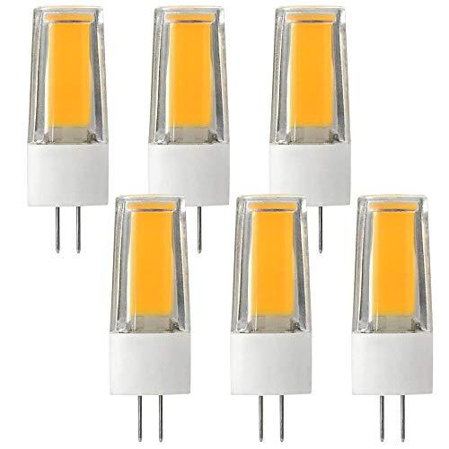 DASKOO 6-er Pack Flimmerfrei G4 5W = 40W LED Licht Keramik + PC Warmweiß 1X5W COB AC/DC 12V