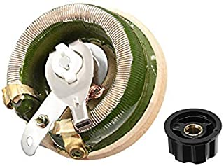 100 Ohm 100W High Power Ceramic Wire Potentiometer with Variable Rheostat knob Resistance