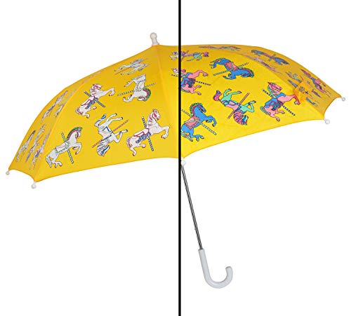 Color Changing Umbrella for Kids - Rain Umbrella for Girls - Carousel...