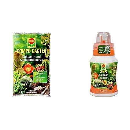 und Sukkulentenerde Pflege Wachstum Aloe Vera COMPO CACTEA® 2 x 10 l Kakteen