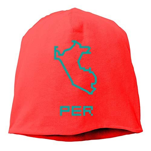 Sombrero de Gorro de Punto Unisex del Mapa del país de Perú, Gorra de Calavera de Hip-Hop, Gorro de puño, Gorra de Reloj, Sombreros Lisos