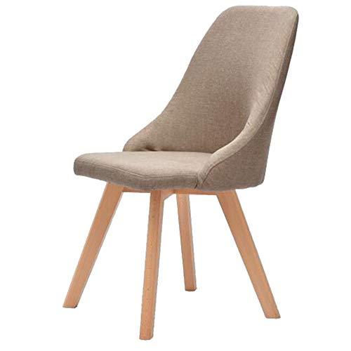 QIDI Chaises, chaises en Bois Massif, chaises créatifs, Moderne et Minimaliste, chaises Longues, fauteuils, chaises de Bureau à Domicile. (Color : All Solid Wood Chair Legs are Beige)