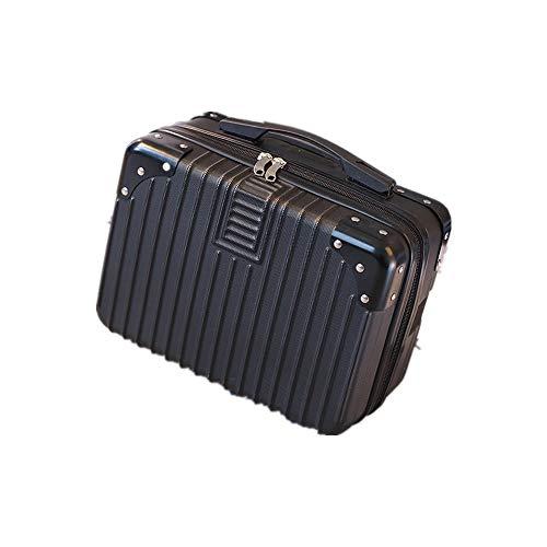ミニスーツケース メイクケーストランクケース ハンドバッグ キャリーバッグ ミニトランク 防水 大容量 軽量 かわいい 出張 旅行 機内持ち込み可 20L以内 (B63ブラック)