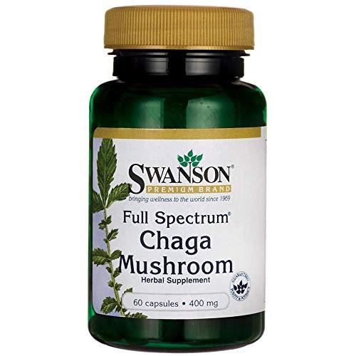 Swanson Full Spectrum Chaga Mushroom 400 Milligrams 60 Capsules