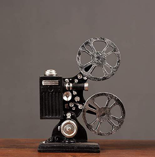 XMUMA Vintage Retro-Nostalgie-Projektor Modell Ornamente Kreative Fotografie Requisiten Fenster Weichen Weichen Innendekorationen