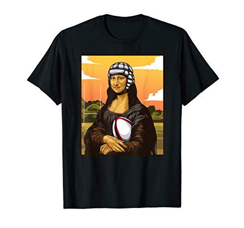 Mona Lisa liebt Rugby! Witziges Rugby Fan Geschenk T-Shirt