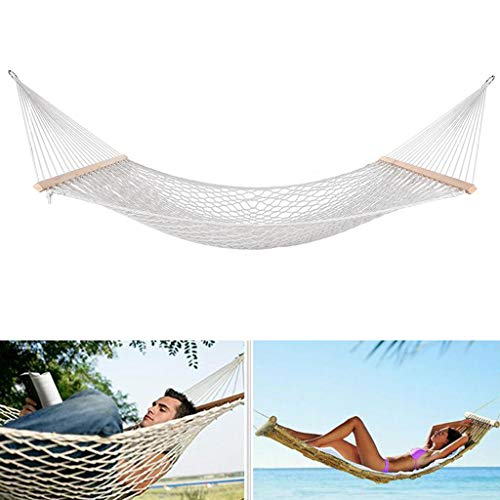 USLuxury Hand-Woven Cotton Rope Large Size Swing Hammocks, Suitable for Outdoor Or Indoor Use