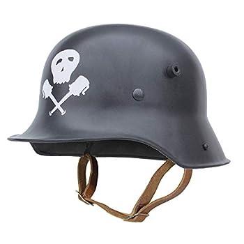 Epic Militaria Replica WW1 German M16 Helmet - Skull and Grenades  X-Large - 60/61 cm