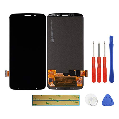 swark Super AMOLED Display Compatible with Motorola Moto Z3 Play XT1929-1 XT1929-6 XT1929-6M XT1929-8 XT1929-15 XT1929-17 6.01'' (Schwarz Ohne Rahmen) LCD Display Touchscreen + Tools