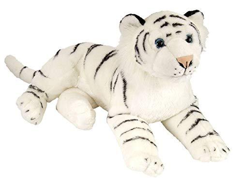 Wild Republic - Tigre de peluche, 40 cm, color blanco (12766)