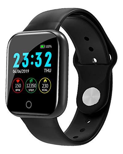 DUANQI Fitness Armbanduhr, Fitness Tracker mit Pulsuhr, 1.3 Zoll Touch-Farbdisplay, IP67 Wasserdicht Smart Watch mit Schlafmonitor, Sportuhr für Damen Herren für Android & IOS,Schwarz