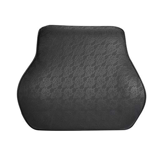 Cojín de soporte lumbar Coche almohada lumbar para silla de oficina Asiento de coche para sillas de ruedas y silla de cubierta de cuero transpirable soporte lumbar asiento trasero Para la silla de ofi