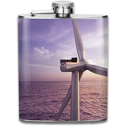 Offshore Frankreich Sgre Offshore Windturbine Mode Tragbare 304 Edelstahl Auslaufsicher Alkohol Whisky Schnaps Wein 7 Unzen Topf Flachmann Reise Camping Flagon