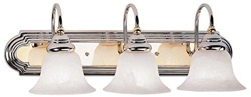 Livex Lighting 1003-52 Belmont 3-Light Bath Light, Chrome and Polished Brass
