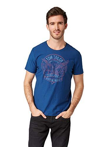 TOM TAILOR Herren 1008643 T-Shirt, Blau (Estate Blue 10908), XXX-Large (Herstellergröße: XXXL)