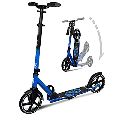 Crazy Skates Sydney Foldable Kick Scooter (SYD) - Features Adjustable Height Handlebars and Steel Brake - Available in 7 Colors - City Series
