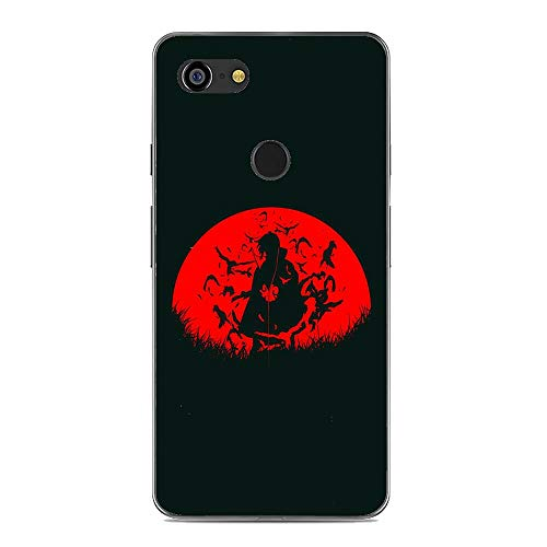 X-Art Transparent Case for Google Pixel 3, Naruto-Kakashi Akatsuki-Anime 8 Fundas Slim Silicone Liquid Flexible Case Cover
