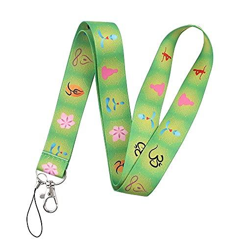 FYMIJJ Star Yoga Cordón Banda para el Cuello Tarjeta de identificación Clave Correa para teléfono móvil/Soporte para Tarjeta de cinturón para teléfono móvil DIY, 6