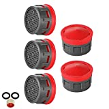 JQK Faucet Aerator, 2.2 GPM Flow Retrictor Insert Faucet Aerators Replacement Parts Bathroom 5 Pack, Standard Size, FAN22-P5