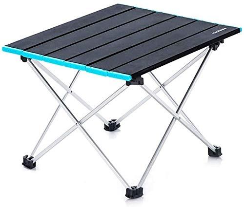 Table pliante Compact Camping léger table de pique-nique pliante portable et tabourets montage rapide de stockage robuste résistant à l'usure durable Antirouille for le vélo randonnée auto-conduite Vi