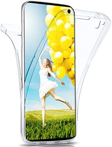 moex Double Hülle für Samsung Galaxy S10e - Hülle mit 360 Grad Schutz, Silikon Schutzhülle, vorne & hinten transparent, Clear Cover - Klar