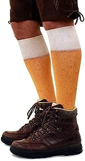 shoperama Bier Druck Kniestrümpfe dick Fußball-Socken Herren Damen Strümpfe Karneval Verkleidung Party lustig Oktoberfest, Größe:43-46
