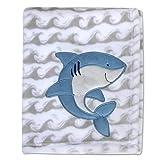 Baby Essentials Manta De Felpa Y Mantas para Bebés |Tiburón Feliz|